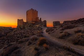 Atardecer en Castillo de Oreja