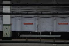 subway (Molly Des Jardin) Tags: street city usa signs philadelphia public station sign metal wall bench underground subway tile metro pennsylvania centercity pipes walnut platform center line transportation transit philly locust septa broad bsl 2015 walnutlocust 43215mm