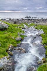 Stream from Utdalsvatnet, Lofoten, Nordland (kurt.kristiansen) Tags: sommer lofoten elv ferietur singhrayvarind gradertgrfilter