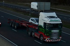 Stobart H2374 PO15 UXW Aimee Leanne A1 Washington Services 19/11/15 (CraigPatrick24) Tags: road truck washington cab transport lorry delivery vehicle a1 trailer scania logistics stobart eddiestobart h2374 skeletaltrailer stobartgroup scaniar450 stobartports washingtonservices aimeeleanne po15uxw