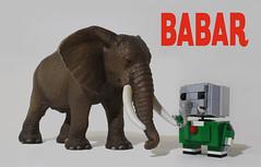 babar et un lphant : copain ? (totopremier) Tags: elephant lego babar blockhead