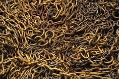 Chain reaction... (Hans Kool) Tags: macro clock metal chains focus missing time chain link copper links brass klok messing metaal watchmaker koper ketting plated metalen tijd gewicht helicon klokken kettinkje schakel horlogemaker sterkste klokketting klokkemaker