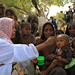 A mobile health extension worker feeding porage to Urru Awka 1 at Lubakda Kebele of Kori Woreda in Afar Regional state.