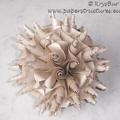 Why? (K16051) (Origami Spirals) Tags: curler paper fold twirl origami burczyk folding art krysbur