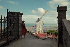 Ferris wheel (alllex777) Tags: ferris wheel barcelona girl sky sigma 35mm art canon 5d traveling