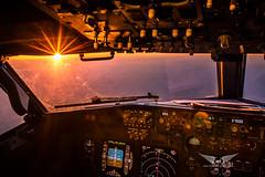 Boeing 737NG Cockpit Sunrise (gc232) Tags: sigma 35mm 35 f14 sunstars sunrise sunset sun light boeing b737 b737ng b737700 b737800 b737900 737 737ng 737800 live from flight deck golfcharlie232 cockpit golden hour hdr high dynamic range instruments flightdeck aviation aviator avion pilot plane pilots view captain first officer fly flying avgeek aerial altitude overhead panel pfd nd instrument f16