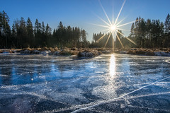 ICE (F!o) Tags: blacice blackice schwarzeis ice eis frozen frost gefroren winter winterscape sea lake frozenlake eislaufen hackensee bayern germany bergsee sunstar sonnenstern ngc