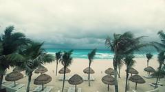 Storm in Paradise (InfiniteLoop25) Tags: cancun storm overcast beach oceanview playa tormenta azul blue mexico