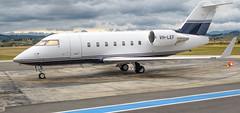 Bombardier CL604 Challenger (twin-jet) VH-LEF, Napier Airport, Hawkes Bay, NZ - 10/12/16 (Grumpy Eye) Tags: nikon d7000 nikkor 24mm 14 vhlef bombardier cl604 challenger napier