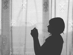 me and my horcrux (likedevonianrock) Tags: blackandwhite silhouette window backlit