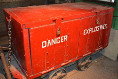 Danger Explosives! (Tony Worrall) Tags: northeast newcastle arty red uk england place museum woodhornmuseum group visit northern update location north area county attraction open stream tour country welovethenorth colliery mone pit coalmine works color colourful exhibit exhibition danger explosives colours cold truck