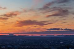 Glasgow & The Trossachs Sunset (dalejckelly) Tags: canon landscape scotland visitscotland outdoor 7dmarkii sunset glasgow trossachs mountain mountains city sky skyline