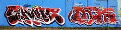Shane  •  Dashe (HBA_JIJO) Tags: streetart urban graffiti vitry vitrysurseine art france hbajijo wall mur painting letters peinture lettrage lettres lettring shane dashe writer paris94 spray panorama thebullshitters