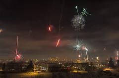 Hafnarfjörður áramót 2016 (Gaflarinn) Tags: iceland hafnarfjörður áramót 20162017 flugeldar fireworks rautt read smoke