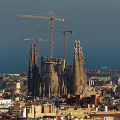 Sagrada Família from the top of Park Güell (wirehead) Tags: parkgüell em5mk2 14150mm barcelona sagradafamília