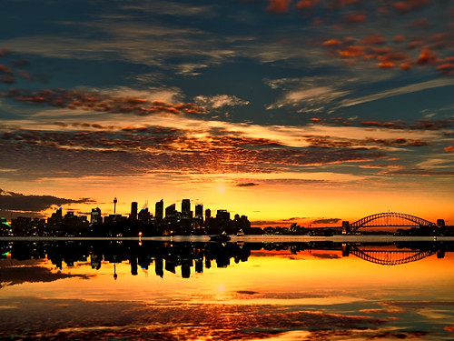 sunset on Sydney