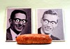 Still Life of Two Weird Refrigerator Magnets and a Chorizo Sausage (ricko) Tags: refrigeratormagnets sausage chorizo stilllife