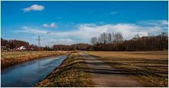 MORNINGS LANDSCAPE (aminekaytoni) Tags: mornings landscape nature natural rivier fleuve sky foret boos road belgium belgique vlaamsbrabant brabant magic