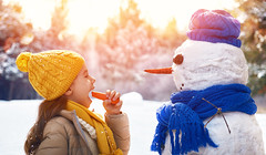 happy child girl plaing with a snowman on a snowy winter walk (firedemagie) Tags: baby beautiful beauty caucasian cheerful child childhood christmas cold cute december face female frost fun girl happiness happy hat holiday joy kid little nature nice one outdoor people playing portrait pretty scarf sculpts season small smile snow snowball snowfall snowflake snowman snowy time travel vacation walk warm winter xmas young russianfederation