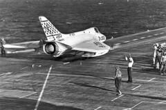 VF-213 F4D-1 Skyray BuNo 134594 (skyhawkpc) Tags: douglas navy naval aviation aircraft airplane military usnavy usn vf213 f4d1 skyray 134594 np302 usslexington cva16 formosa 1958 officialusnavy