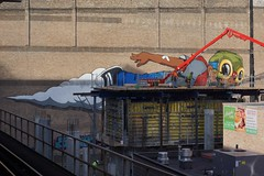 HEBRU in construction (drew*in*chicago) Tags: graffiti chicago 2017 street art artist tag mural outdoor paint painter