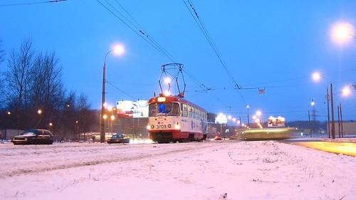 Moscow tram Tatra T3SU 3709