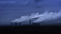 View from the Black Gate: Part 2 (2017-01-28) (snjscuba) Tags: uk england mersey runcorn cheshire fiddlers ferry power station industrial clouds cooling towers