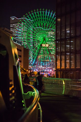 Cosmo Clock 21 (StillCallsMeSon) Tags: ferriswheel cosmoclock cosmoworld japan yokohama green colors night lowlight