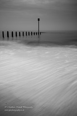 Clean Sweep (Matthew Nuttall Photography) Tags: beach blyth northumberland ukcoast blackandwhitephoto blacknwhite blacknwhiteuk bw bwphoto bwphotography coast coastline groyne mono monochrome necoast necoastline northeast northeastcoast sea seascape england unitedkingdom