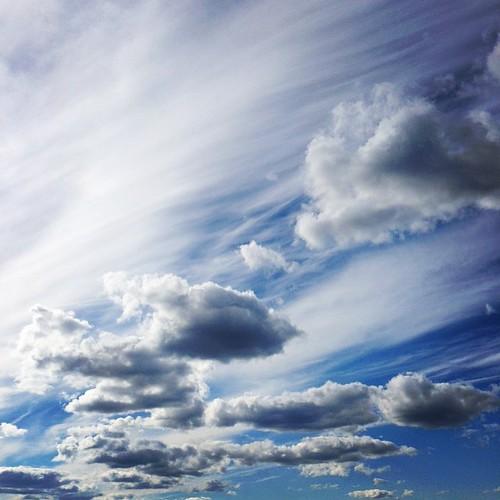 Сегодня в Поленово было удивительное небо.