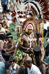 28-108 (ndpa / s. lundeen, archivist) Tags: man color men film face festival fiji 35mm necklace costume clothing ribbons audience drum traditional nick feathers culture makeup andrew suva southpacific drummer warrior warriors 28 tradition 1970s facepaint spectators performers performer 1972 necklaces spear headdress onlookers dewolf oceania fijian pacificartsfestival pacificislands headdresses kape festivalofpacificarts southpacificislands nickdewolf mekeo photographbynickdewolf festpac pacificislandculture southpacificfestival reel28 southpacificartsfestival akape inawaia southpacificfestivalofarts fiji72
