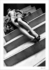 IMG_7936-Edit-Edit (zaom80) Tags: portrait blackandwhite stairs canon nude women legs coat monochromatic eos450d sigma1770