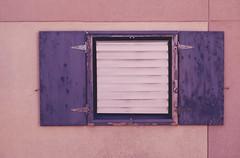 Purple Shutters (L. Paul) Tags: pink building window lines pattern purple mountpleasant iowa shutter lightpink henrycounty purpleshutters