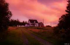 Sunset in Rear Intervale (kenmojr) Tags: road sunset summer sky cloud house canada abandoned home field grass architecture barn rural evening novascotia cloudy farm country shed northamerica glencoe capebreton agriculture maritimes macissac maritimeprovinces easterncanada atlanticprovinces judique kenmorris kenmo rearintervale
