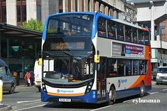 Stagecoach in Manchester 10416, SL64HZZ. (EYBusman) Tags: street city bus buses portland manchester coach gm south centre lancashire 400 greater alexander dennis mmc stagecoach enviro 10416 eybusman sl64hzz