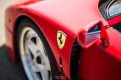 The Iconic. (God_speed) Tags: show red classic sports car wheel amazing italian display outdoor oz priceless 1987 ferrari retro 80s enzo vehicle shield rim 1980s rosso scuderia supercar corsa f40 2015 wtac