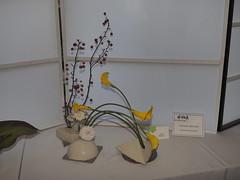 """Japanese flower arrangement by Yoshie Mizuno """"Ichiyo School"""". (nano.maus) Tags: lauritzengardens japaneseflowerarrangement omahabotanicalsociety japaneseambiencefestival"""