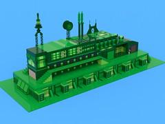 BIOTRON 6777 (Crimso Giger) Tags: green lego render space moc afol ldd biotron legodigitaldesigner bluerender