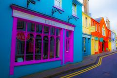 Coloured Ireland I (ToDoe) Tags: street blue ireland houses orange yellow magenta irland kinsale colored coloured fassaden intensiv enhancedcolours verstäkrtefarben