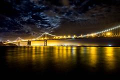 San Francisco - Oakland Bay Bridge at Night (Stafford Student) Tags: sanfrancisco usa urlaub baybridge reise nachtaufnahme top20bridges