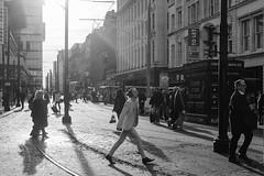 Charged With Solar Energy (mecenas zielon) Tags: autumn blackandwhite bw manchester 50mm streetphotography piccadillygardens onthestreet spiritofphotography wojciechzielenkiewicz