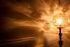 The Lamp Fantastic (MacBeales) Tags: light orange lamp wall canon eos 350d gold shadows shade standard