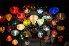 Lanterns (stevenp74) Tags: colour night dark asia sony vietnam lanterns hanging lamps oldtown a7 sony28mmf2