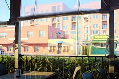 Pastel Outlook (Iggy & StarCat) Tags: building fence restaurant texas outdoor pastel houston poles x100 landscapeurban