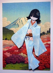 ATC1298 - Sightseeing around Mt Fuji (tengds) Tags: pink flowers blue red green atc artisttradingcard garden asian japanese card geisha kimono obi origamipaper mtfuji artcard papercraft japanesepaper washi ningyo japaneseprint handmadepaper handmadecard azaleagarden woodblockprint chiyogami asiandoll hasui japanesepaperdoll nailsticker origamidoll kimonodoll nailartsticker tengds origamiwashi