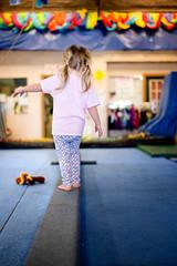 Amelia on the Balance Beam (donnierayjones) Tags: girl kid toddler child beam gymnast gymnastics balance gym