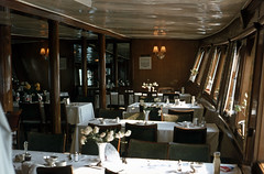 """The Dining Room - on board """"Maid of the Loch"""", Jul'77. (David Christie 14) Tags: maidoftheloch"""