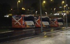 ELITE LINEUP (Cammies Transport Photography) Tags: bus sorry volvo coach fife elite perth and service stagecoach dunfermline lineup in plaxton halbeath not pampr