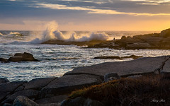 Don't stand so close! (Nancy Rose) Tags: 73142 atlantic peggyscove novascotia waves windy