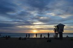 Waikiki Sunset (trailwalker52) Tags: hawaii oahu waikiki sunset waikikisunset paradise beach lifeguard lifeguardtower